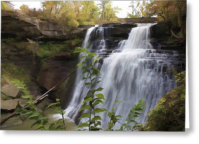 Cvnp Greeting Cards - Brandywine Falls Greeting Card by Jack R Perry