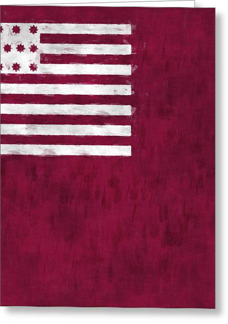 7th Greeting Cards - Brandywine Flag Greeting Card by World Art Prints And Designs