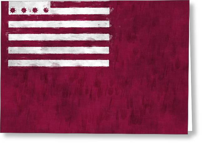 Brandywine Flag Greeting Card by World Art Prints And Designs