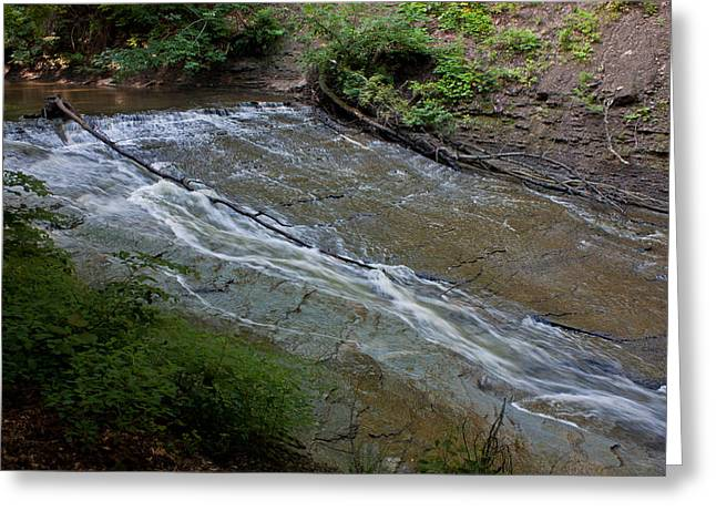 Cvnp Greeting Cards - Brandywine Gorge Cascade Greeting Card by Claus Siebenhaar