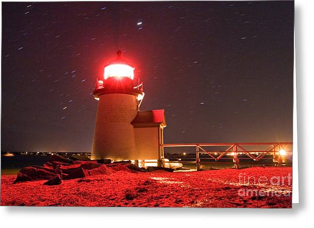 Brant Point Lighthouse Greeting Card by Chris Cook