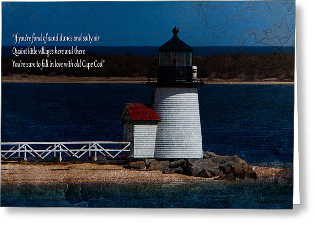 Sea Greeting Cards - Brant point lighthouse-Nantucket Greeting Card by Jeff Folger