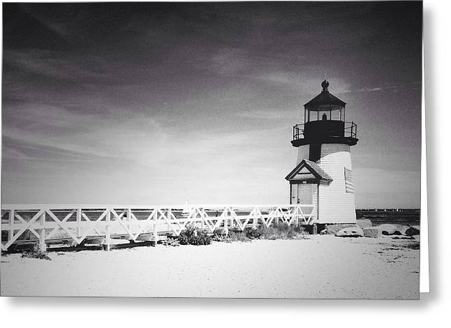 Brant Point Lighthouse Greeting Card by Natasha Marco