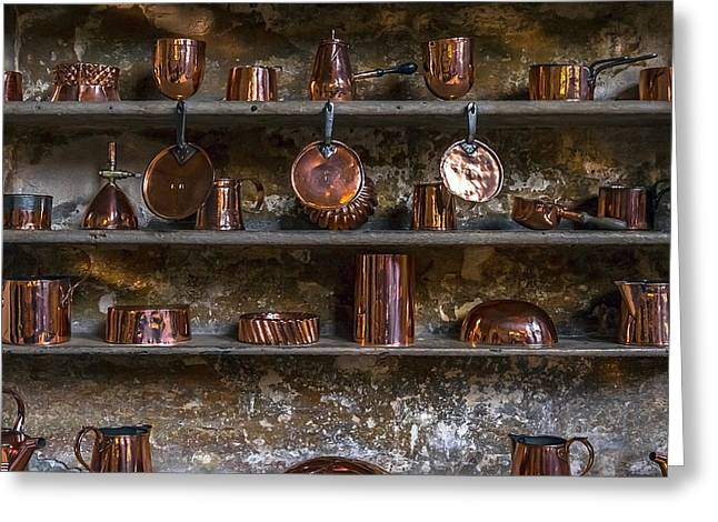 Ageless Greeting Cards - Brass Kitchenware Greeting Card by Svetlana Sewell