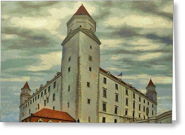 Palaces Greeting Cards - Bratislava Castle Greeting Card by Jeff Kolker