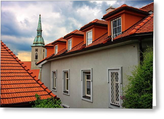 Alex Sukonkin Greeting Cards - Bratislava roofs Greeting Card by Alex Sukonkin