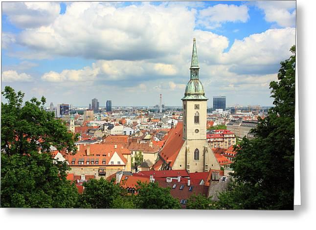 Alex Sukonkin Greeting Cards - Bratislava Saint Martin Cathedral Greeting Card by Alex Sukonkin