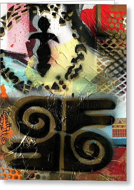 Everett Spruill Mixed Media Greeting Cards - Bravery / Valor - 2014 Greeting Card by Everett Spruill