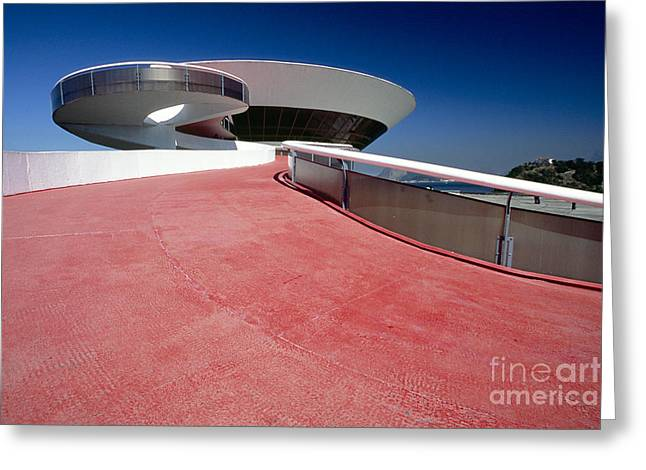 Contemporary Art Museum Greeting Cards - Brazilian Architecture Greeting Card by George Oze