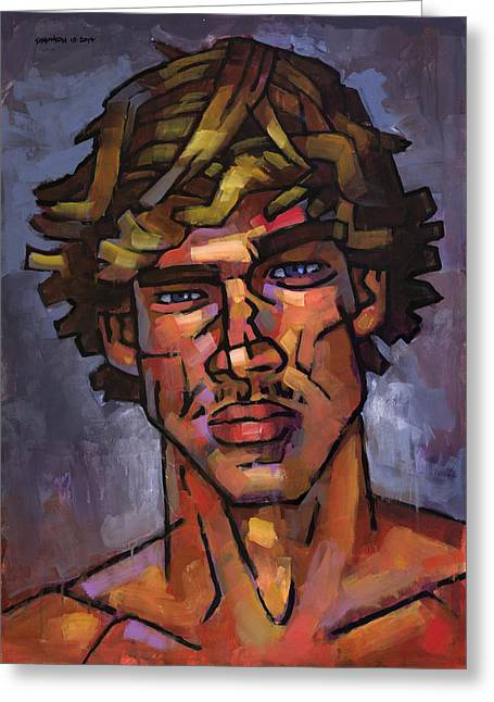 Surfer Art Greeting Cards - Brazilian Surfer Greeting Card by Douglas Simonson