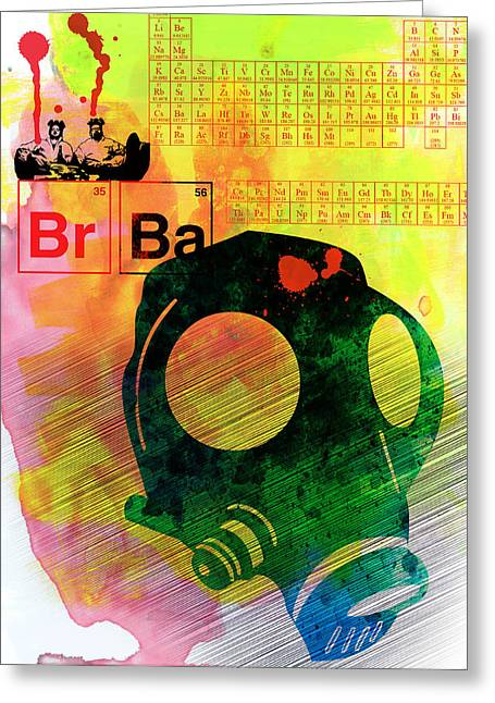 Breaking Bad Greeting Cards - BrBa Watercolor Greeting Card by Naxart Studio