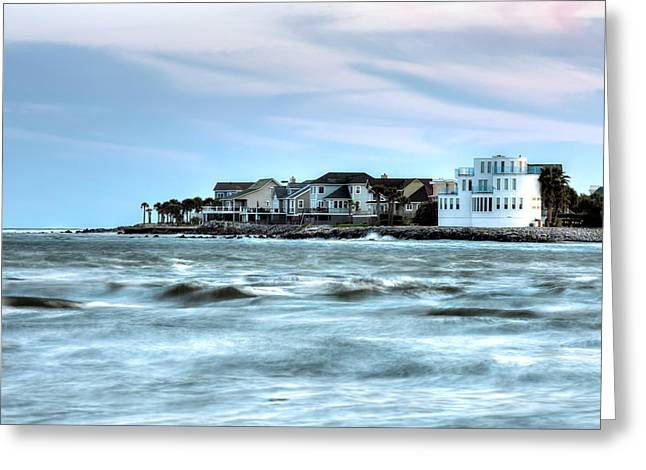 Breaching Greeting Cards - Breach Inlet Greeting Card by Walt  Baker