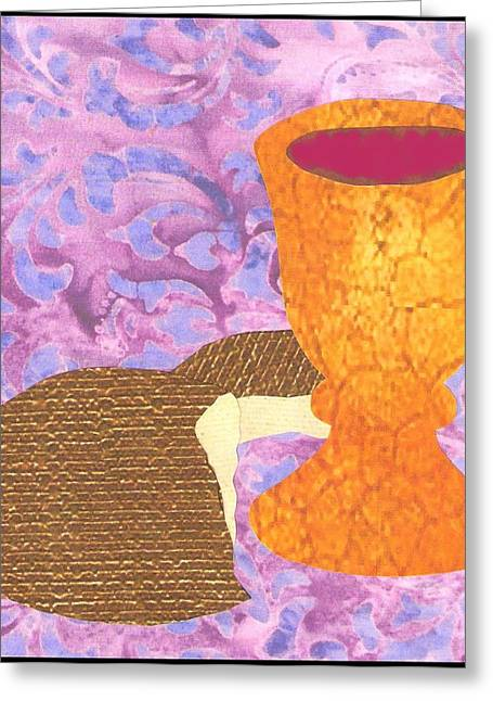 Jim Harris Greeting Cards - Bread and Cup Greeting Card by Jim Harris
