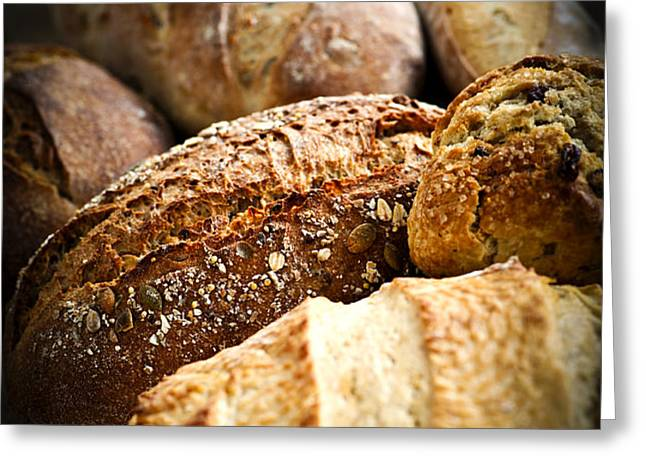 Bread loaves Greeting Card by Elena Elisseeva