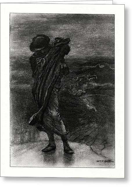 1916 Drawings Greeting Cards - Break Break Break Greeting Card by Celestial Images