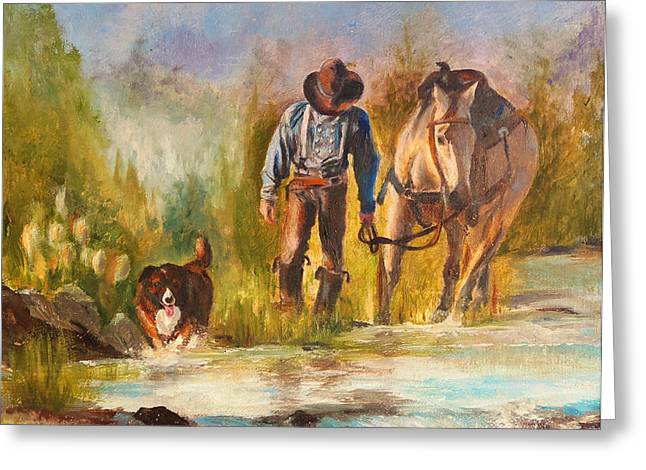 Chatham Greeting Cards - Break For The Ride Greeting Card by Karen Kennedy Chatham