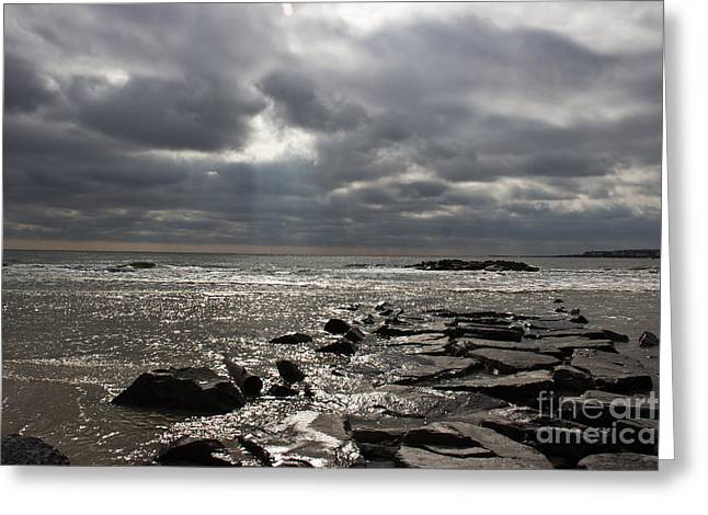 Townsends Inlet Greeting Cards - Break In The Clouds Greeting Card by Tom Gari Gallery-Three-Photography