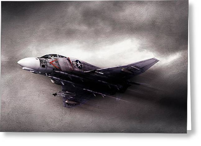 Interceptor Greeting Cards - Break On Through Greeting Card by Peter Chilelli