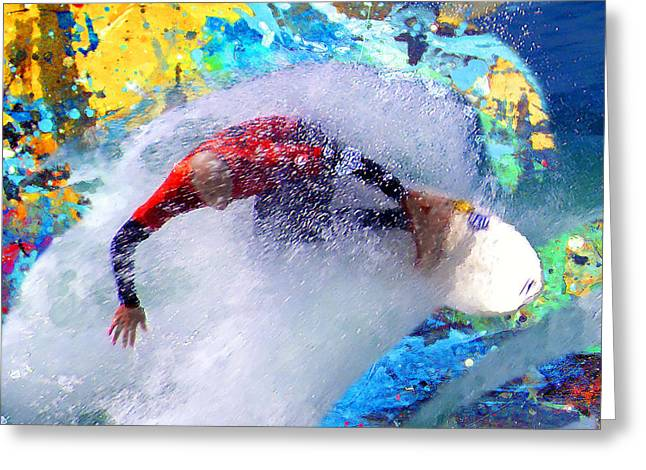 Us Open Greeting Cards - Break On Through To The Other Side Greeting Card by Ron Regalado