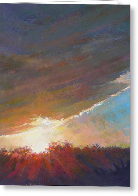 Storm Clouds Cape Cod Greeting Cards - Break Through Greeting Card by Ed Chesnovitch