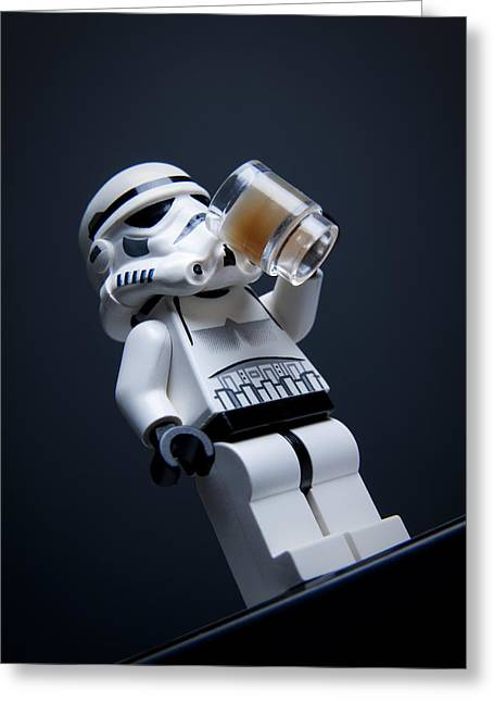 Star Wars Photographs Greeting Cards - Break Time Greeting Card by Samuel Whitton