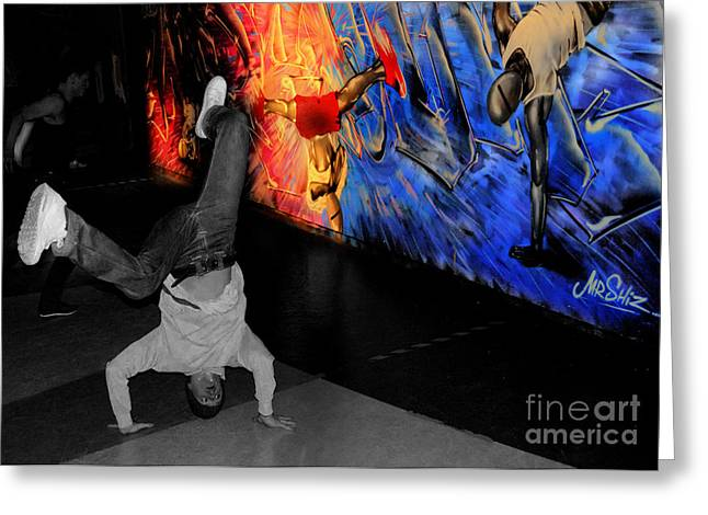 Break Dance Greeting Cards - Breakdance Uk  Greeting Card by Rob Hawkins