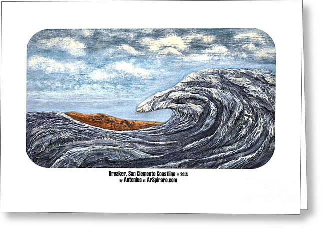 Photo Reliefs Greeting Cards - Breaker San Clemente  Greeting Card by ArSpirare by Antonius