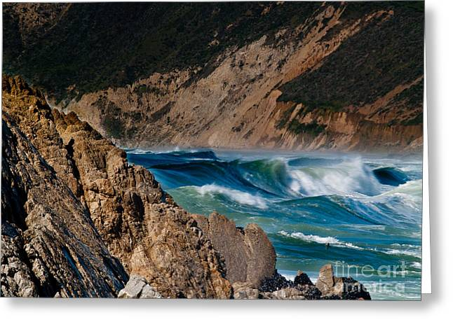 California Ocean Photography Greeting Cards - Breakers at Pt Reyes Greeting Card by Bill Gallagher