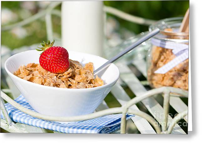 Breakfast Photographs Greeting Cards - Breakfast Al Fresco Greeting Card by Amanda And Christopher Elwell