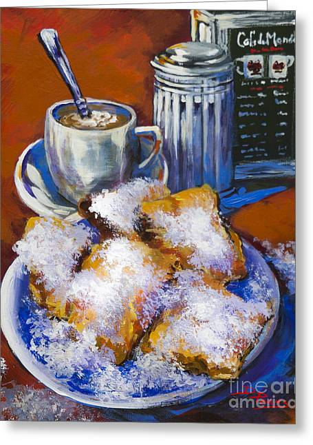 Cafe Greeting Cards - Breakfast at Cafe du Monde Greeting Card by Dianne Parks