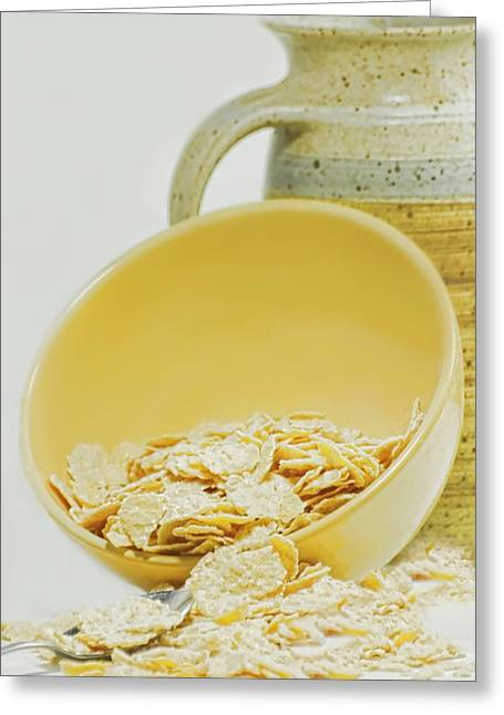 Corn Meal Greeting Cards - Breakfast Bowl Greeting Card by Diana Angstadt