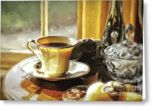 Table Greeting Cards - Breakfast Is Ready Greeting Card by Lois Bryan