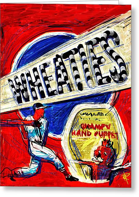 Hitter Mixed Media Greeting Cards - Breakfast of Champions Greeting Card by Russell Pierce