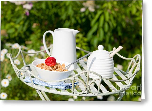 Breakfast Photographs Greeting Cards - Breakfast Outdoor Greeting Card by Amanda And Christopher Elwell