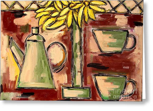 Recently Sold -  - Flower Still Life Prints Greeting Cards - Breakfast Greeting Card by Patrick J Murphy