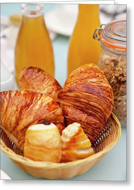 Breakfast Table In Provence, France Greeting Card by Brian Jannsen