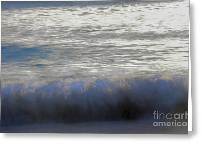 Beach Photography Greeting Cards - Breaking Greeting Card by Amanda Sinco