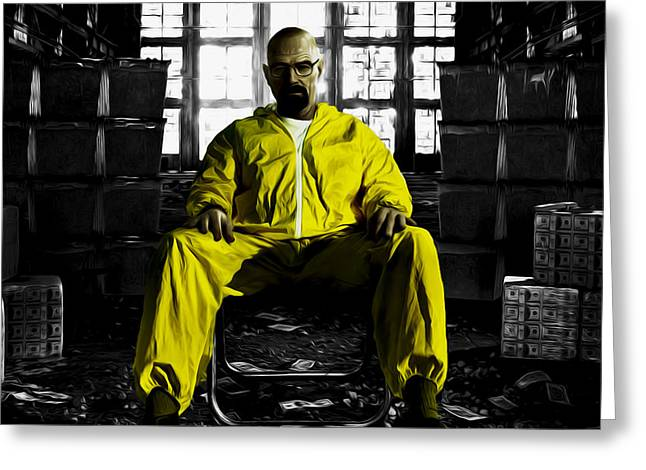 Vince Mixed Media Greeting Cards - Breaking Bad 3a Greeting Card by Brian Reaves