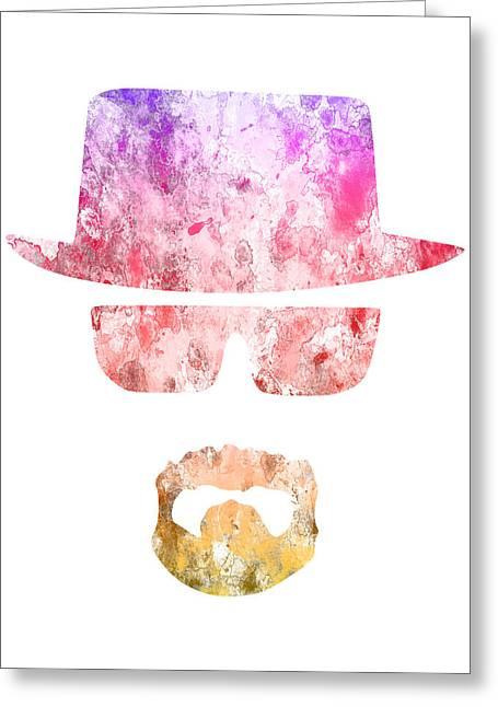 Heisenberg Art Prints Greeting Cards - Breaking Bad - 5 Greeting Card by Chris Smith