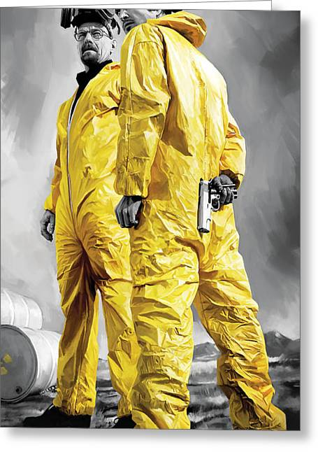 Breaking Greeting Cards - Breaking Bad Artwork Greeting Card by Sheraz A