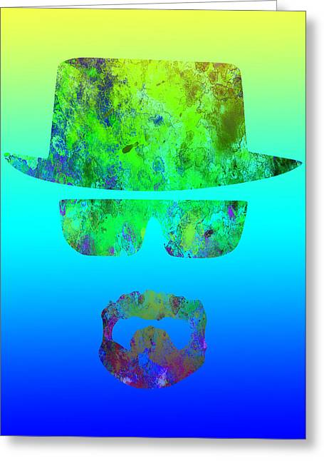 Heisenberg Prints Greeting Cards - Breaking Bad - Blue Greeting Card by Chris Smith