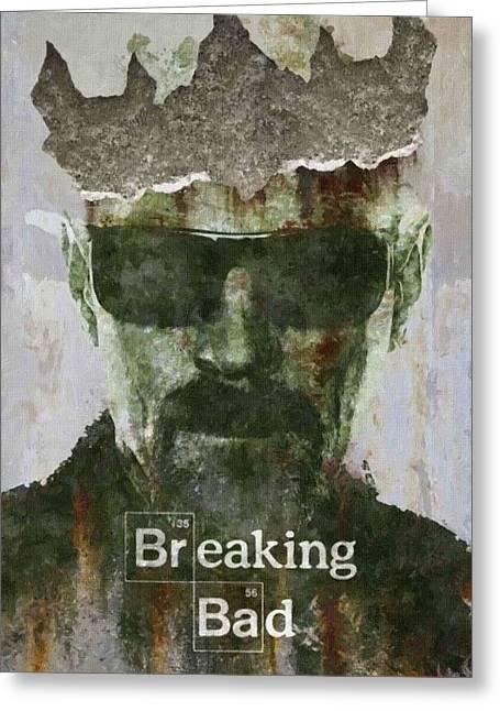 Breaking Bad Art Greeting Cards - Breaking Bad Drawings Greeting Card by Victor Gladkiy
