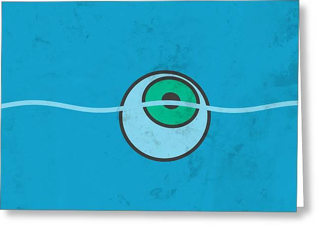 Breaking Bad - Floating Eyeball Greeting Card by Lance Vaughn