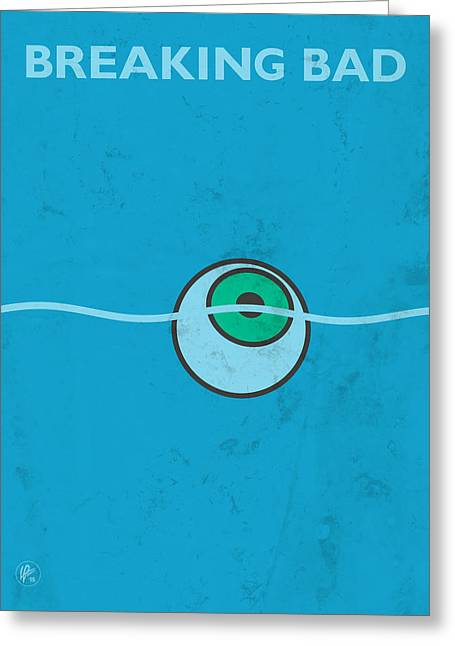Vince Greeting Cards - Breaking Bad - Floating Eyeball Greeting Card by Lance Vaughn