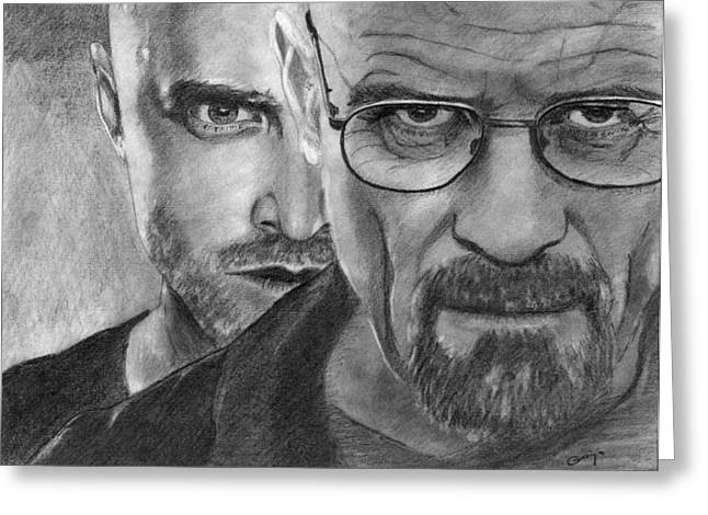 Bad Drawing Greeting Cards - Breaking Bad Greeting Card by Gracja Waniewska
