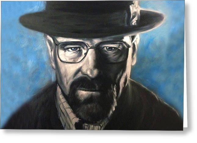 Heisenberg Art Prints Greeting Cards - Breaking Bad Heisenberg Greeting Card by Travis Knight