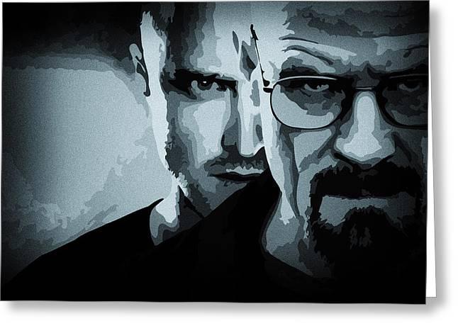 Heisenberg Breaking Bad Greeting Cards - Breaking Bad Greeting Card by Ian Hufton