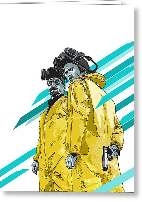 Breaking Greeting Cards - Breaking Bad Greeting Card by Jeremy Scott