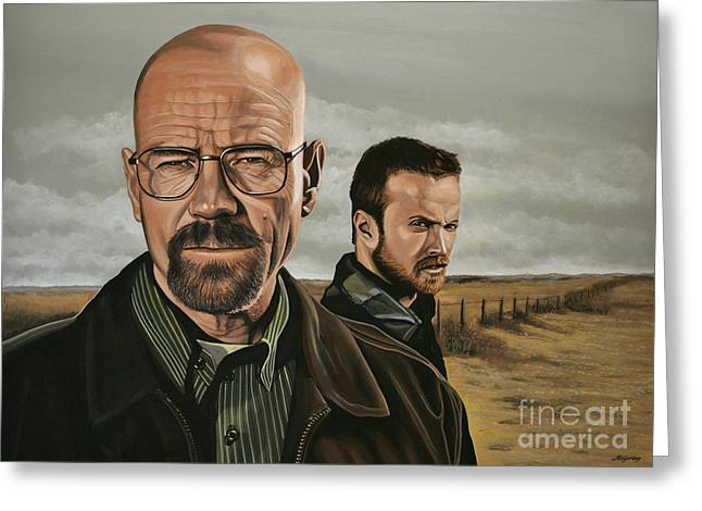 Hank Greeting Cards - Breaking Bad Greeting Card by Paul Meijering