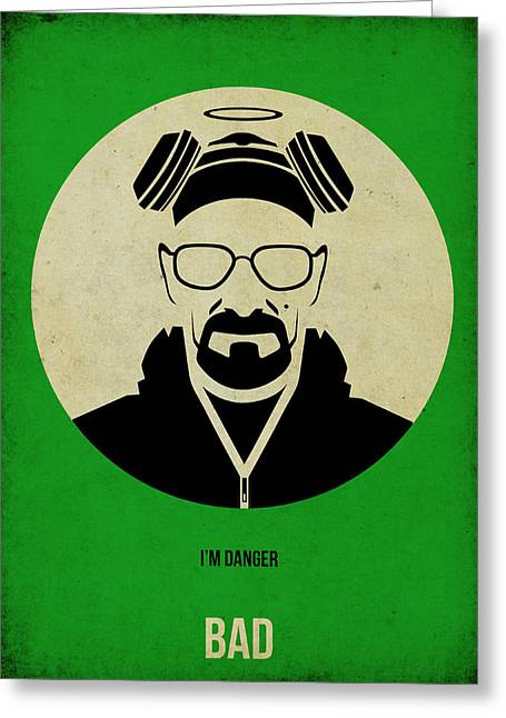 Shows Greeting Cards - Breaking Bad Poster 1 Greeting Card by Naxart Studio